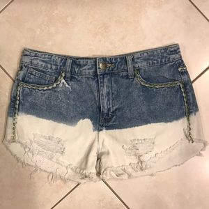 Free People Acid Wash Shorts